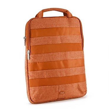 Lug Slider Laptop Pouch; Sunset Orange