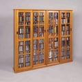 Leslie Dame Glass Door Multimedia Cabinet; Oak