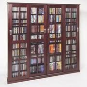 Leslie Dame Glass Door Multimedia Cabinet; Dark Cherry