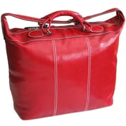 Floto Imports Piana 17'' Leather Travel Duffel; Tuscan Red