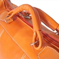 Floto Imports Piana 18'' Leather Travel Duffel; Orange