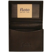 Floto Imports Firenze Leather Business Card Case; Black