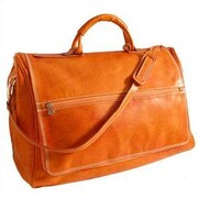 Floto Imports Taormina 21'' Leather Travel Duffel; Orange
