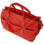 Floto Imports Casiana 21'' Leather Travel Duffel; Tuscan Red