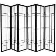 Oriental Furniture Eudes 6 Paned Room Divider; Black