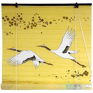 Oriental Furniture Cranes Shoji Rice Paper Roller Blind; 48'' W x 72'' L
