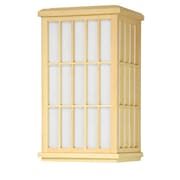 Oriental Furniture Japanese Window Pane Wall Sconce; Natural