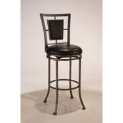 Hillsdale Auckland 24'' Swivel Bar Stool with Cushion