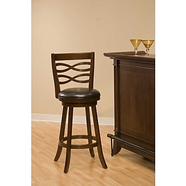Hillsdale Swivel 25.5'' Bar Stool with Cushion