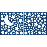 Brewster Home Fashions Home Decor Glow in the Dark Moon & Stars Wall Decal Set