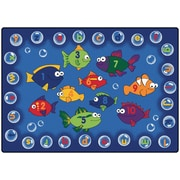 Carpets for Kids Literacy Fishing Kids Area Rug; 3'10'' x 5'5''