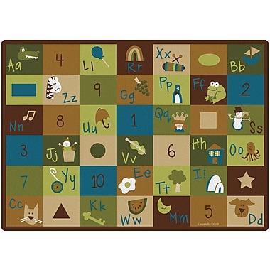 Carpets for Kids Learning Blocks Nature Kids Area Rug; 5'10'' x 8'4''
