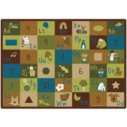 Carpets for Kids Learning Blocks Nature Kids Area Rug; 5'10'' x 8'4''