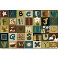 Carpets for Kids Toddler Alphabet Blocks Kids Rug; Oval 6' x 9'