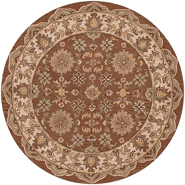 LR Resources Shapes Coffee Persian Rug; Round 5'