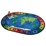 Carpets for Kids Printed Circletime Around the World Area Rug; Oval 6'9'' x 9'5''