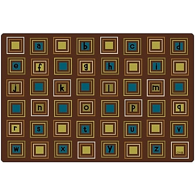Carpets for Kids Literacy Squares Kids Rug; 8' x 12'