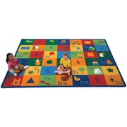 Carpets for Kids Printed Learning Blocks Area Rug; Oval 6'9'' x 9'5''
