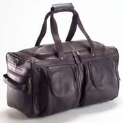 Clava Leather Vachetta 19'' Leather Travel Duffel; Caf