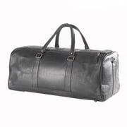 Clava Leather Vachetta Barrel 23'' Leather Carry-On Duffel; Black