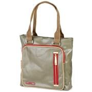 Clava Leather Carina Square Pocket Tote Bag; Army