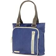 Clava Leather Carina Square Pocket Tote Bag; Indigo