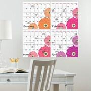 WallPops! WallPops Dry-Erase 4 Piece Calendar Whiteboard Wall Decal Set