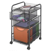 Safco Products 27'' Mesh Mobile File Cart; 15.5'' W