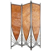 Oriental Furniture 72'' x 52.5'' Tropical Philippine 3 Panel Room Divider