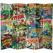 Oriental Furniture 84'' x 102'' Tall Double Sided Marvel Comic Book Covers 6 Panel Room Divider