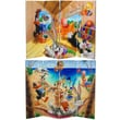 Oriental Furniture 48'' x 63'' Tall Double Sided Bugs Bunny and Friends 4 Panel Room Divider