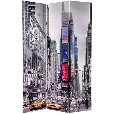 Oriental Furniture 70.88'' x 47.25'' Double Sided New York Taxi 3 Panel Room Divider