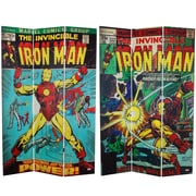 Oriental Furniture 71'' x 47.25'' Tall Double Sided The Invincible Iron Man 3 Panel Room Divider
