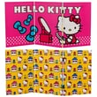 Oriental Furniture 23.75'' x 47.25'' Tall Double Sided Hello Kitty Vanity 3 Panel Room Divider