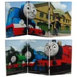 Oriental Furniture 23.75'' x 47.25'' Tall Double Sided Thomas Sodor Steamworks 3 Panel Room Divider