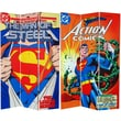 Oriental Furniture 71'' x 47.25'' Tall Double Sided Superman Man of Steel 3 Panel Room Divider