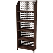 Oriental Furniture 53'' Accent Shelves Bookcase; Mocha