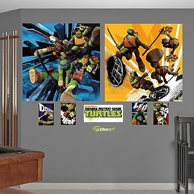 Fathead Teenage Mutant Ninja Turtles Dual Action Wall Decal WYF078276137468