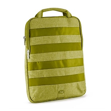 Lug Slider Laptop Pouch; Grass Green