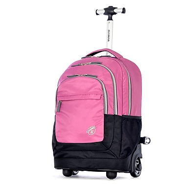Olympia Gen-X 19'' Rolling Backpack; Plum