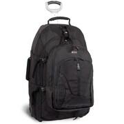 J World Hudson Rolling Backpack; Black