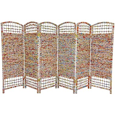 Oriental Furniture 47.75'' x 94.5'' 6 Panel Room Divider