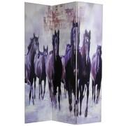 Oriental Furniture 70.88'' x 47.25'' Horses 3 Panel Room Divider