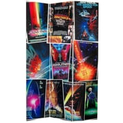 Oriental Furniture 71'' x 47.25'' Star Trek Tall Double Sided Movie Posters 3 Panel Room Divider