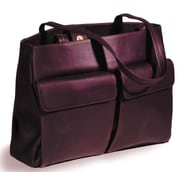 Clava Leather Vachetta Two Pocket Tote Bag; Caf