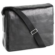 Clava Leather Tuscan Messenger Bag; Black
