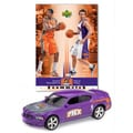 Upper Deck NBA Dodge Chargers Die-cast with Basketball Card - Phoenix Suns