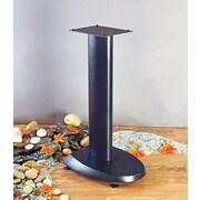 VTI VSP Series 29'' Fixed Height Speaker Stand (Set of 2); Black Base/Black Pole