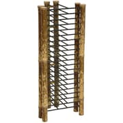 Oriental Furniture Japanese Bamboo Vertical Multimedia Tabletop Storage