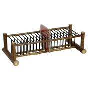 Oriental Furniture Japanese Bamboo Horizontal Multimedia Tabletop Storage Rack